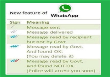 IT News Alert:whatsapp-third-blue-tick-indicating-message-read-by-govt-is-a-fake-news